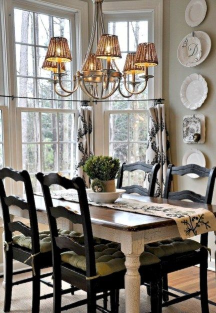 Fancy French Country Dining Room Table Decor Ideas 14 Cottage