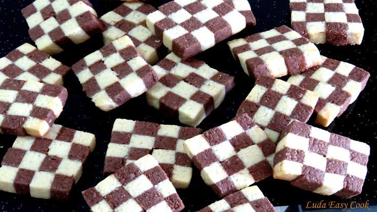 Cách làm bánh quy bàn cờ Ванильно-шоколадное шахматное печенье Checkerbo...