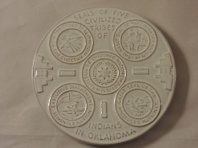 Frankoma Seals of Five Civilized Tribes of Oklahoma Trivet Hot Plate