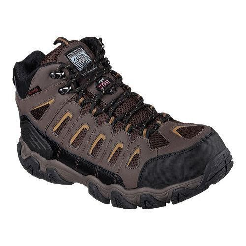 Skechers Men's Boots Work Blais Bixford Steel Toe Dark