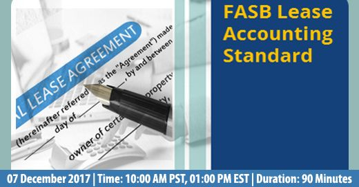 Know more about the new FASB lease standard and the effects of the new lease standard on the global economy. Webinar.