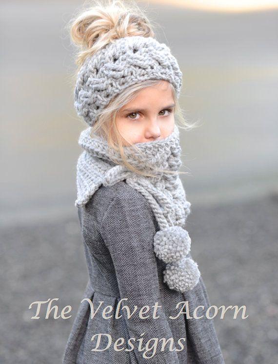 CROCHET PATTERN-Plumlyn Warmer Set Toddler Child von Thevelvetacorn