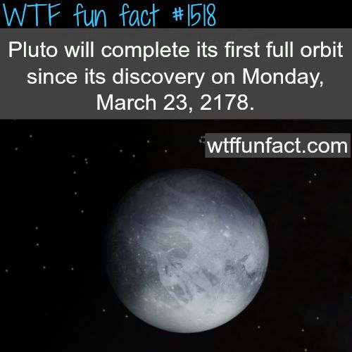 Pluto planet facts - when will pluto complete it's first orbit since it's discovery? WTF FUN FACTS HOME / See MORE TAGGED/ science