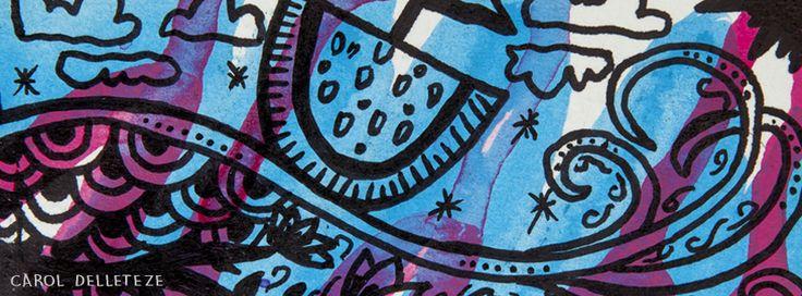 Melancia ao Mar - Background e Wallpaper criados por Carol Delleteze. Desenhos originais, únicos, feitos a mão disponíveis para download.  #caroldelleteze #background #wallpaper #desenholudico #arte #art #handmade #illustration #pattern #melancia #barco #mar #ocean