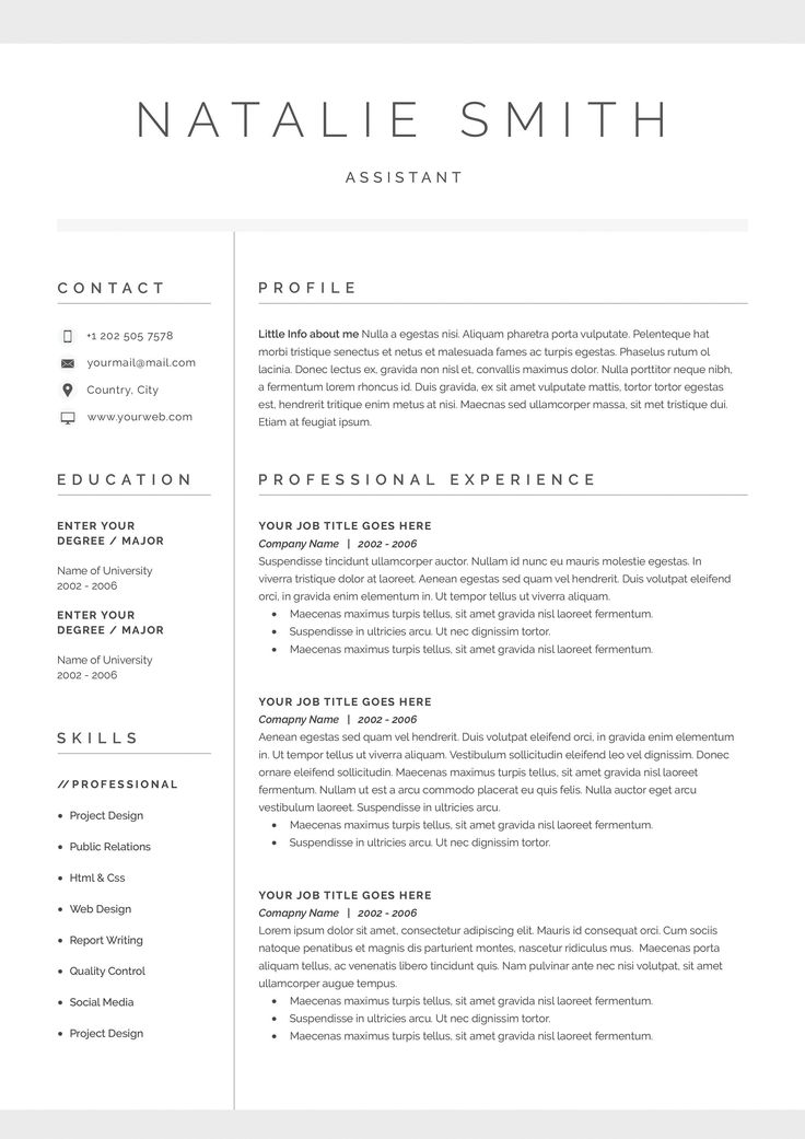Best Best Resume Templates Images On   Resume