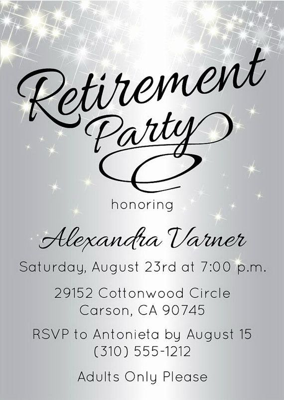Retirement Party Invitations Template Best Of Best 25 Retirement Invitations Retirement Invitation Template Retirement Party Invitations Party Invite Template
