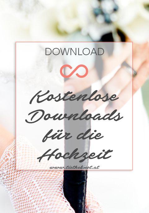 Kostenlose Downloads für die Planung eurer Hochzeit. #hochzeit #heirat #downloads