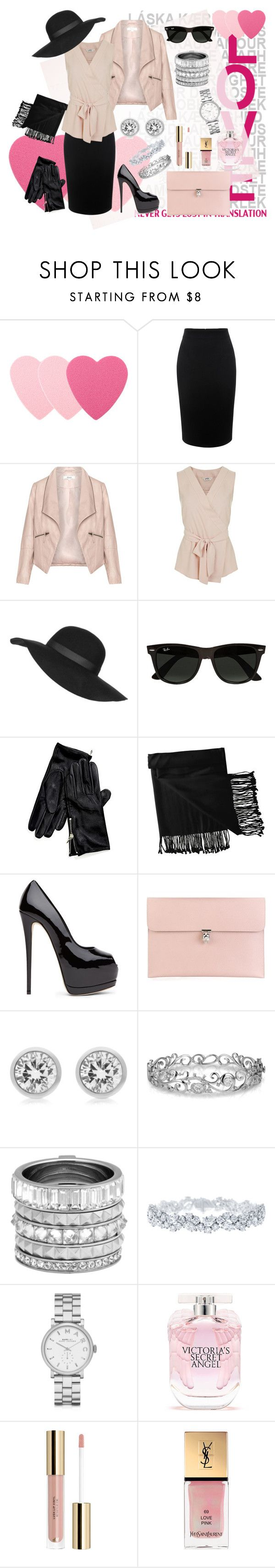 """pretty pink"" by pretty-girl81 on Polyvore featuring moda, Sephora Collection, Alexander McQueen, Zizzi, Miss Selfridge, Topshop, Ray-Ban, Tommy Hilfiger, New Directions e Michael Kors"