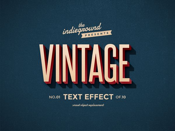 Trendgraphy retro vintage text effects by roberto perrino - Text banner design ...