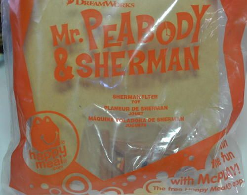 McDonald's 2014 Dreamworks Mr Peabody & Sherman Flyer Toy #6