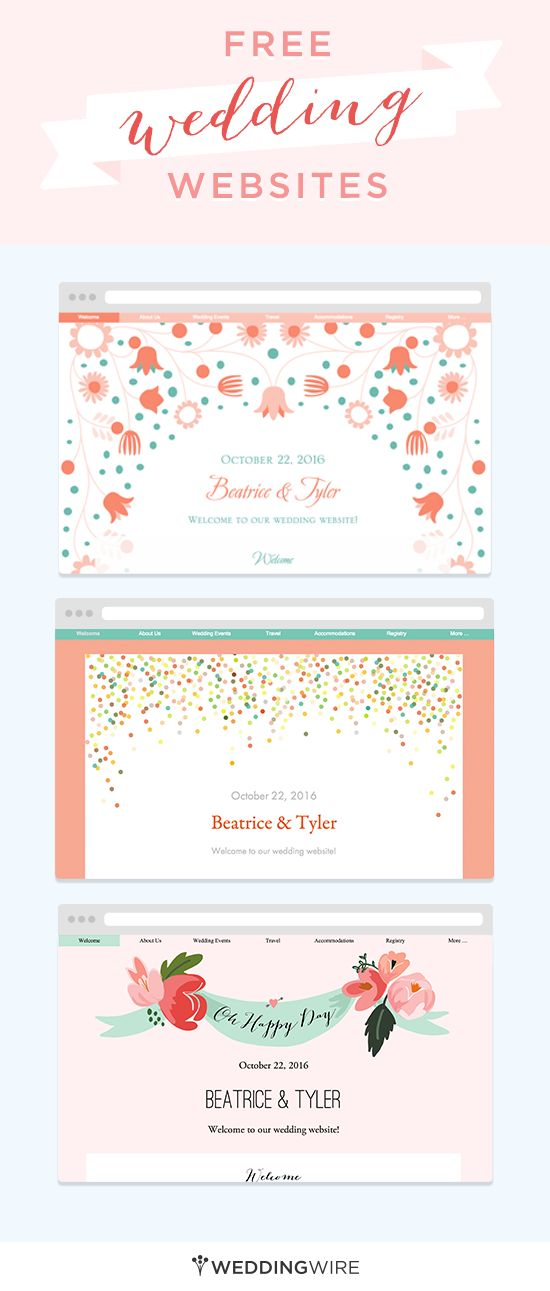 Create a free wedding website to share your info with for Wedding picture sharing website