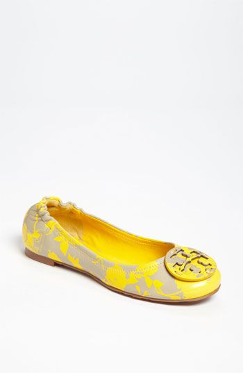 Tory Burch Reva Flat in grey/yellow