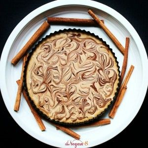 Here is another vegan cheesecake for you....and it is TO DIE FOR. It is going on our Thanksgiving table too. I promised to post it before Thanksgiving because I had posted a picture awhile back of it on Facebook and people wanted the recipe. I decided to make it in a tart pan. It makes it elegant and thinner, which is perfect, because it