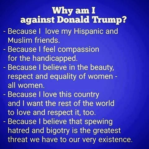 Why am I against Donald Trump? Let me count the ways.