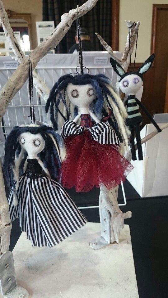 Mini goth dolls