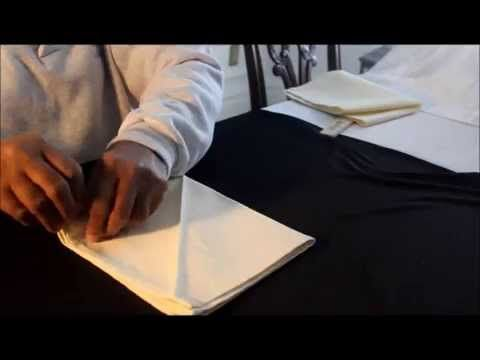 How To Fold A Swirl Napkin Folding 4 Folds Hotel