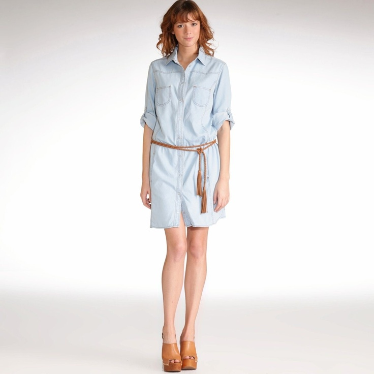 La Redoute | Straight-Cut Denim Dress