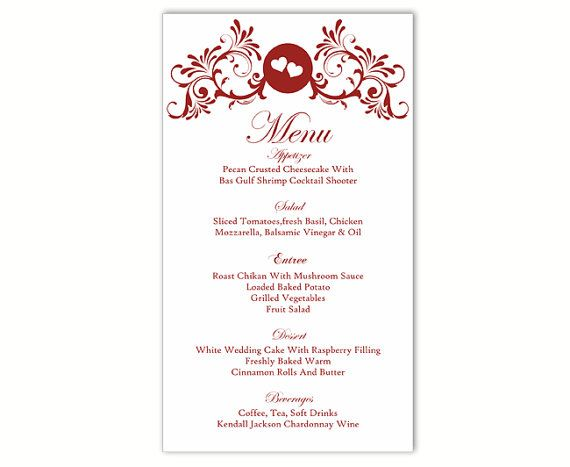 The 25+ best DIY menu cards template ideas on Pinterest DIY - menu printable template