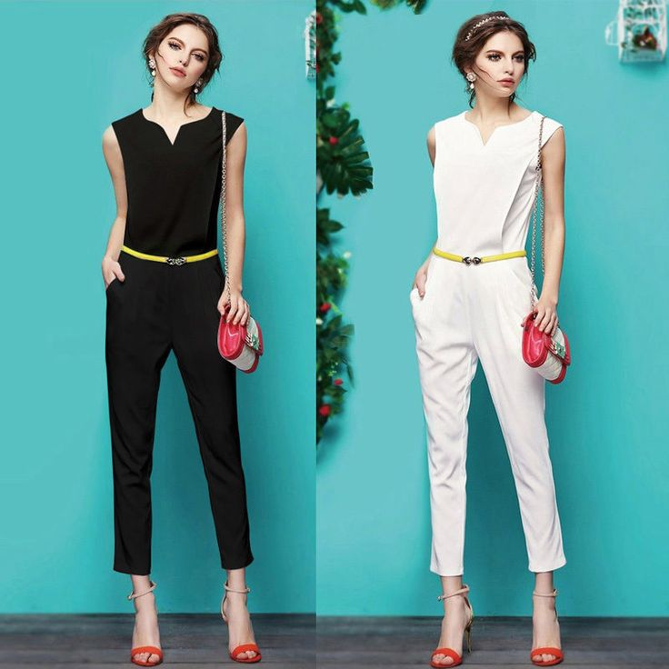 GK Vogue Occident Celebrity Fashion Causal Slim Fit Sleeveless Jumper Jumpsuit  #Unbranded #Jumpsuit