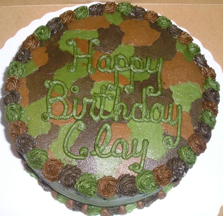 Camo cake done in BC frosting.
