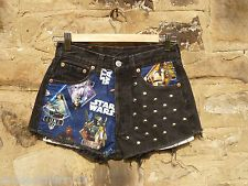 star wars cut off levis shorts with studs