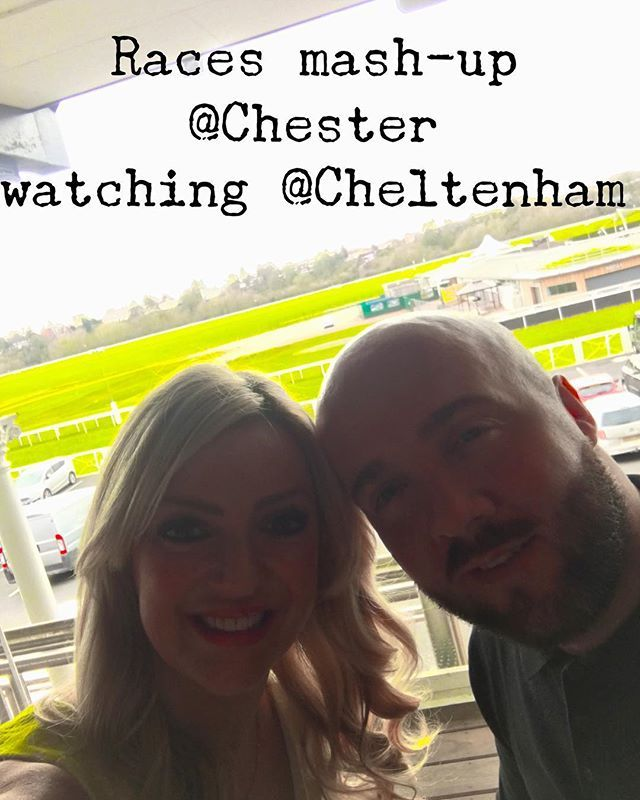 We are mashing up the races today watching #Cheltenham at #Chester @restaurant1539 @mr_cousens_dj #races #winning #dateday #blessed #newlymarried