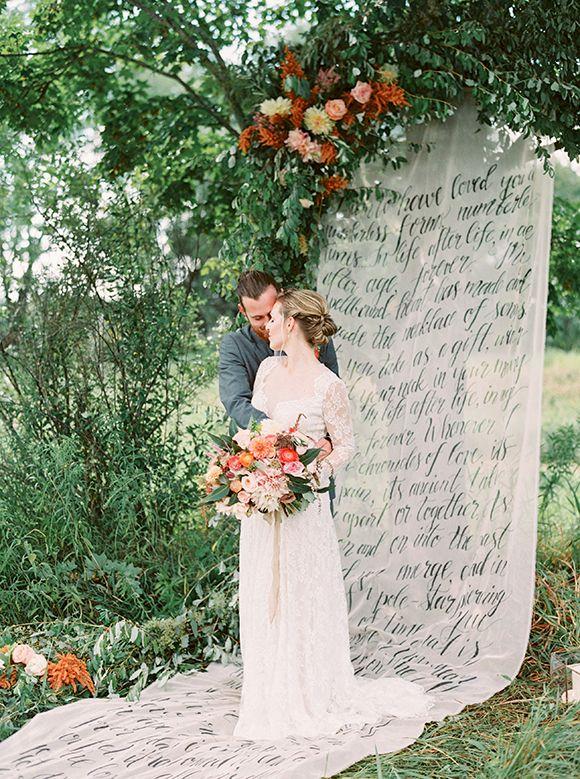 Vibrant colourful summer wedding ideas