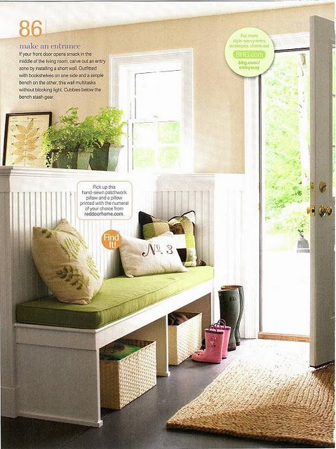 Mudroom entry styled by Donna Talley for Better Homes & Gardens magazine, photographed by John Bessler