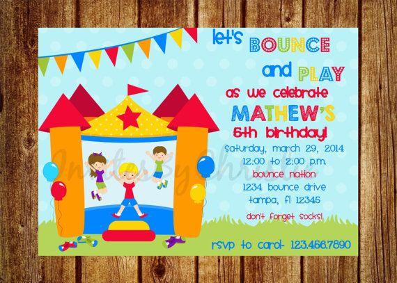 Bounce Party Invitation with beautiful invitation ideas