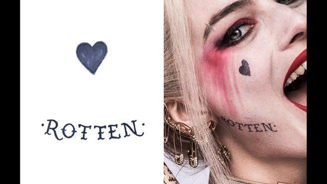 Los tatuajes de Margot Robbie como Harley Quinn: guía definitiva - CINEMANÍA