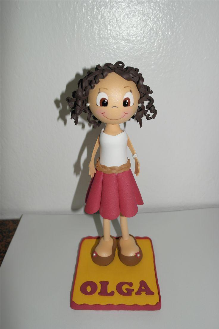 Fofucha personalizada. Facebook: Las Creaciones de Irene