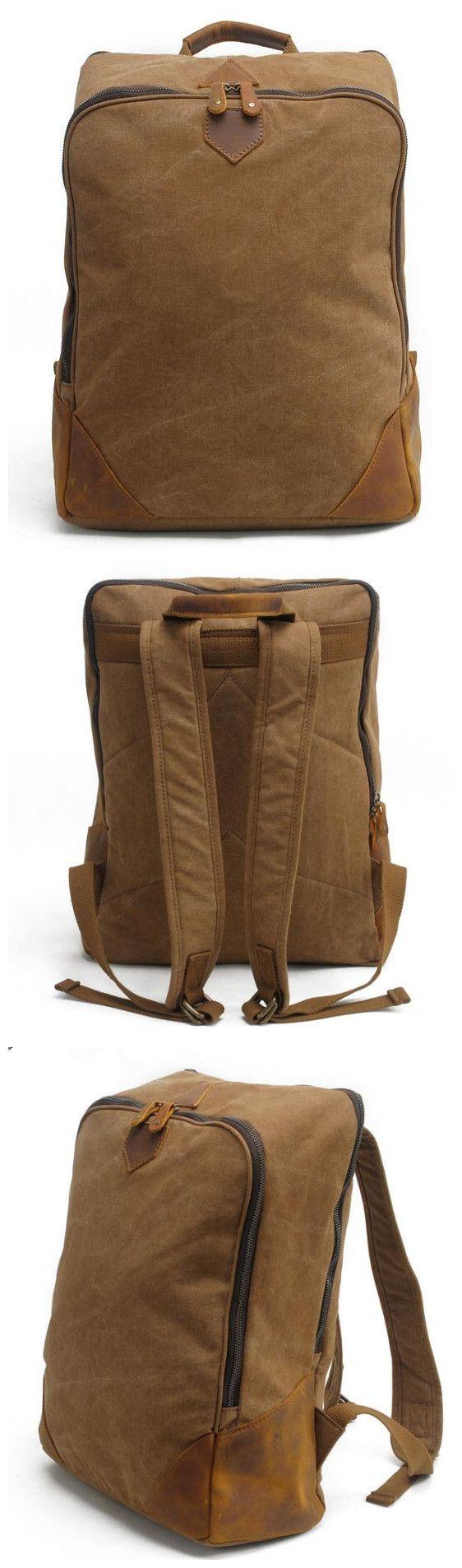 Waxed Canvas Backpack Rucksack School Backpack