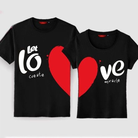 t-shirts for couples | gullei. com- korean- style- couple- t- shirts- matching- h