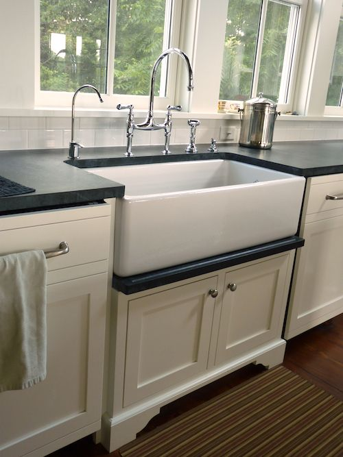 white farmhouse kitchens farm sink kitchen style sinks home depot apron front with backsplash vintage for sale