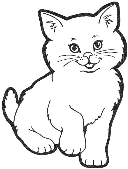 Pin By Daniela Vasile On Cats Amp Dogs Cat Coloring Page