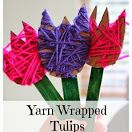 School Time Snippets: Yarn Wrapped Tulips {Fine Motor Friday} Pinned by SOS Inc. Resources @so siu ki Inc. Resources.