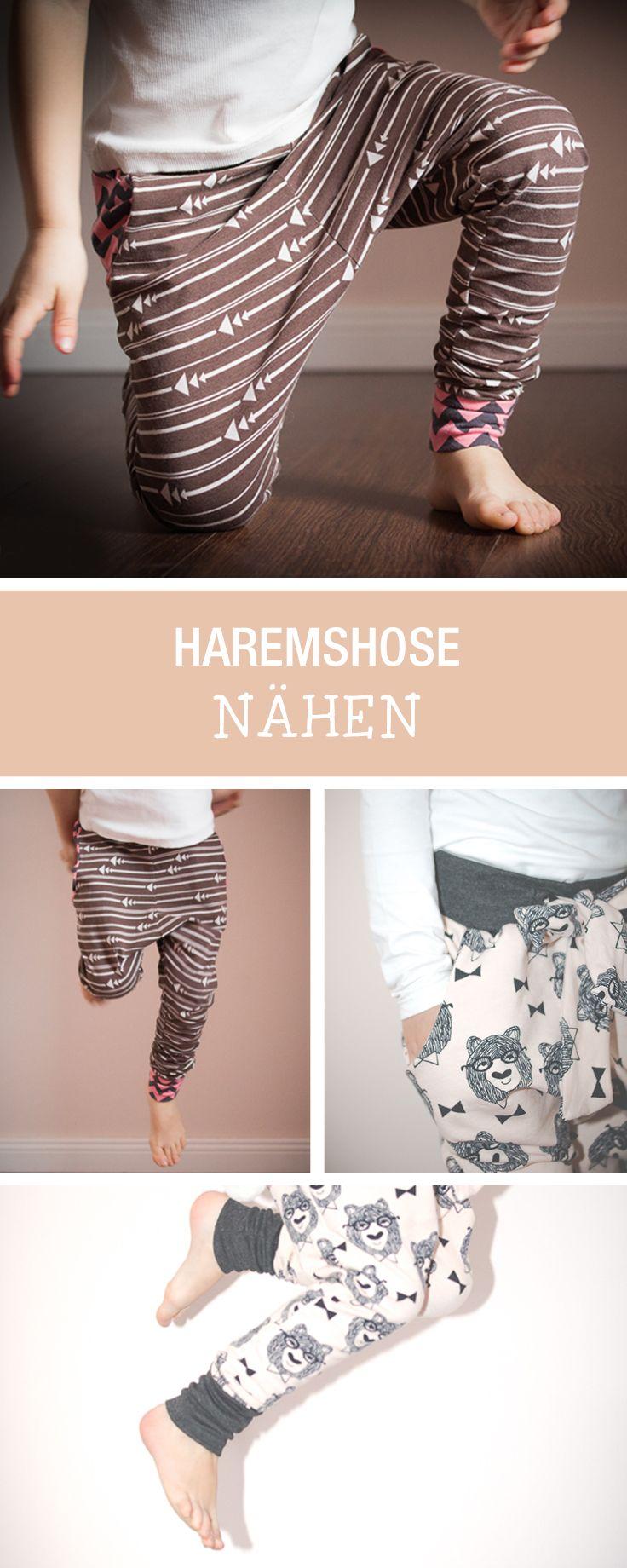 Nähanleitung für Kindermode: Süße Haremshose nähen / children sewing tutorial: how to sew comfy pants via DaWanda.com