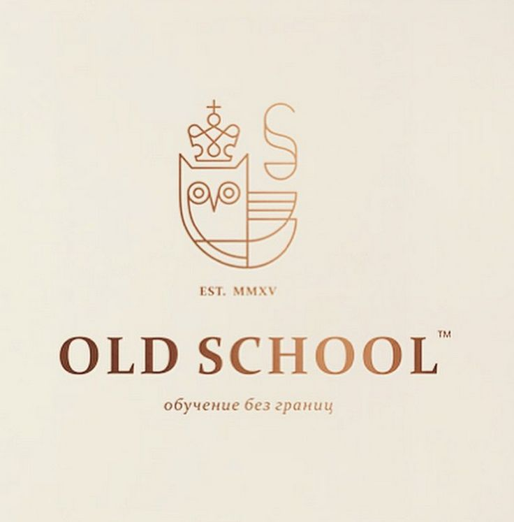 old school logo © Bashev Denis