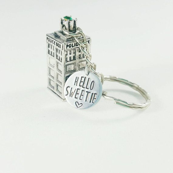 Tardis Keychain  Doctor Who inspired Bad Wolf by ATrinketTrunk