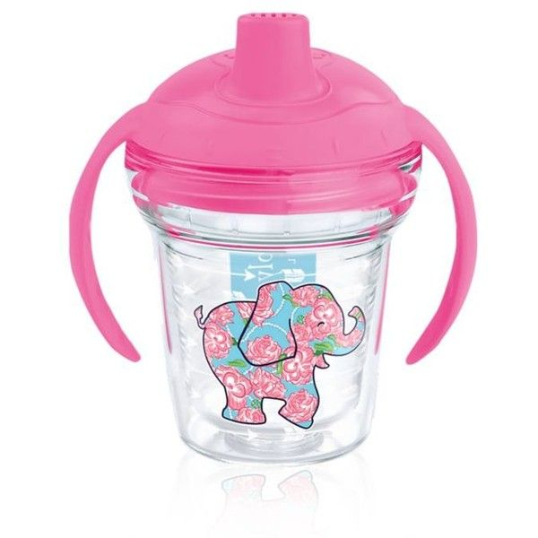 Tervis Pink 6-Oz. Simply Southern Floral Elephant Sippy Cup ($18) ❤ liked on Polyvore featuring pink