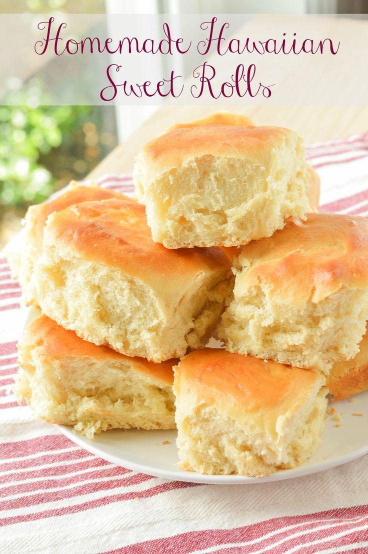 Homemade Hawaiian Rolls {Macaroni and Cheesecake} #bread #sandwiches