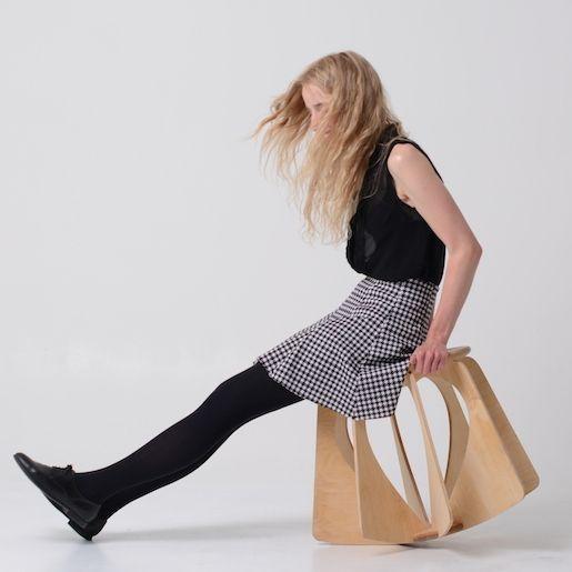 """NINA-Neutral"" active stool, by melinda molnaar"