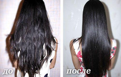 до и после желатина волосы