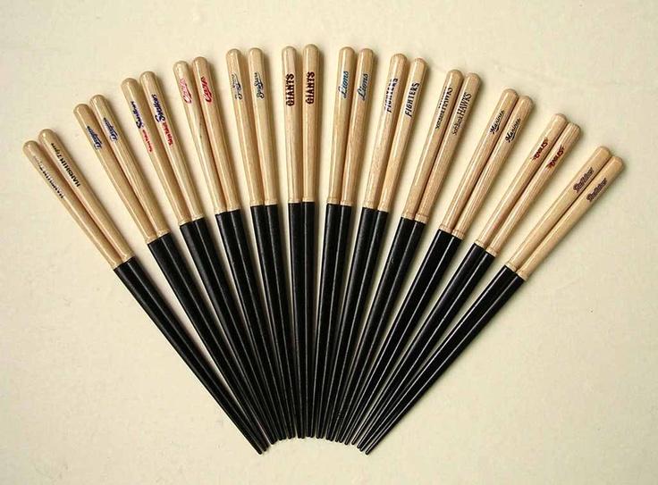 Bat recycle product    일본에서는 나무 배트가 연간 20만개가 소비된다고 한다.   부러진 배트는 기존에 땔감으로 사용되었지만 이것을 상품화하여 젓가락으로 만든 아이디어 상품이 있다.  87년의 역사를 자랑하는 젓가락 제조 브랜드 효자에몬이 만든 각 팀의 로고가 새겨진 젓가락은 1500~1800엔에 팔리고 있다. 또한 도장과 구둣주걱도 판매하고 있다.  Bat recycle product> Published by www.notbooth.com