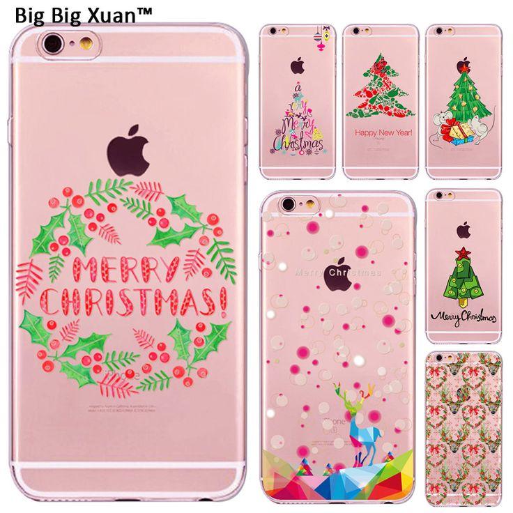 Weihnachtsdekoration cute cat owl elch tiere design fällen für iphone 7 5 5 s 6 6 s Plus Telefonabdeckung Weihnachten Neujahr Geschenk Funda Capa