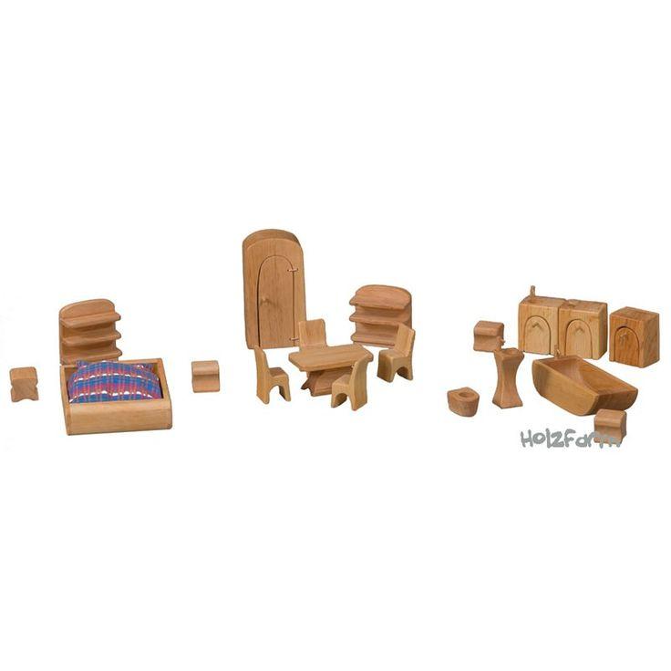 Exceptional Verneuer Puppenhausmöbel Set 19tlg. Hochwertiger Möbelsatz Aus Erlenholz  Speziell Für Unser Puppenhaus Mit Balkon Und