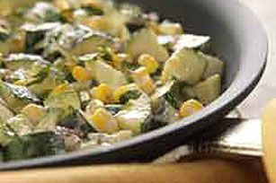 Pan-Roasted Zucchini with Corn & Chipotle Peppers