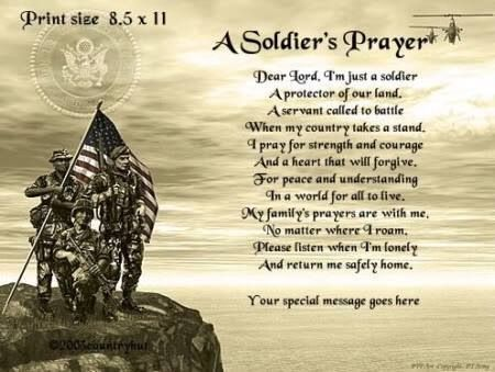 Soldiers Prayer Armystrong Soldiers Prayer Pray For