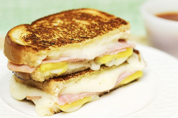 Hawaiian Pizza Grilled Cheese Sandwich Recipe