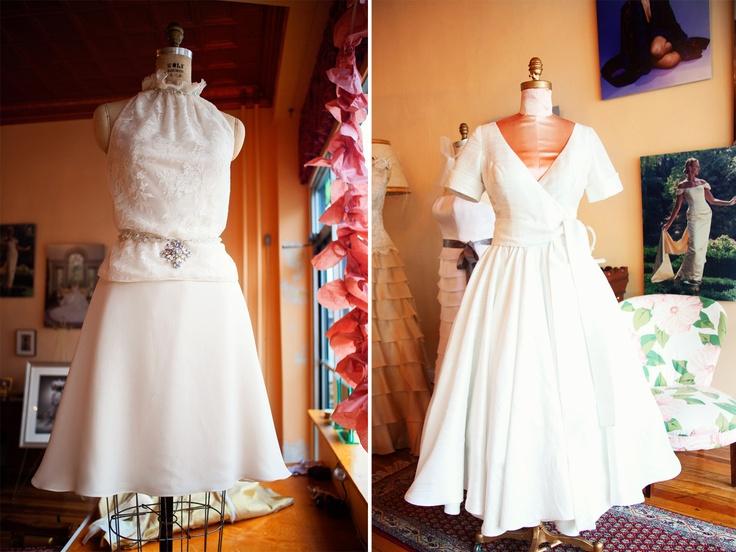 New blog post: http://janicemartin.net/2013/03/06/rethinking-short-wedding-gowns-couture-custom-bridal-dres/    Short wedding gowns by Janice Martin Couture - www.janicemartin.net